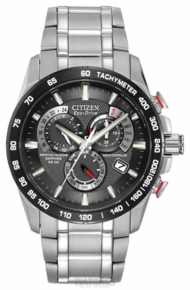 Citizen Radio Controlled Perpetual Calendar Chronograph A-T AT4008 ...
