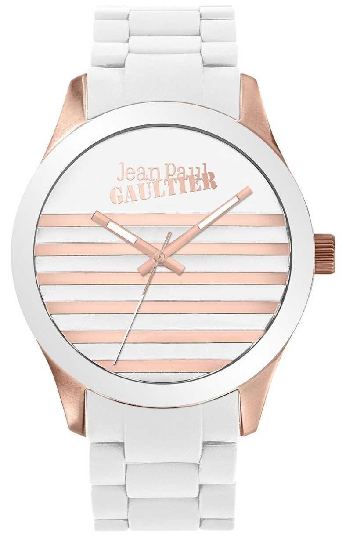 Jean Paul Gaultier Enfants Terribles Unisex White And Rose Gold Rubber Watch JP8501126