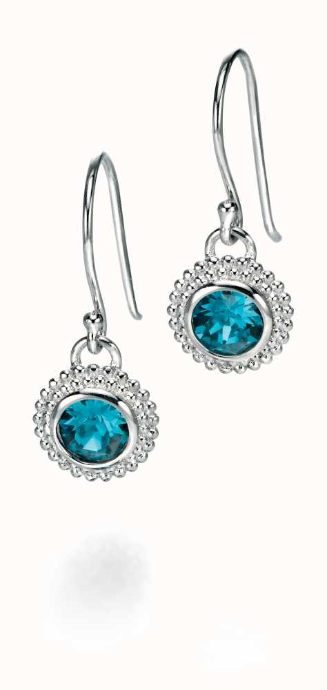 2a3bdeefbe3 Fiorelli Indicolite Swarovski Crystal Round Earrings With Textured ...