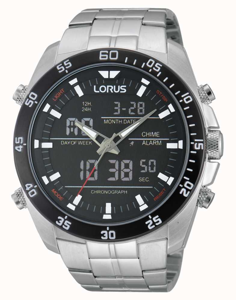 Lorus Silver Steel Alarm Chronograph Watch Rw611ax9 First Class