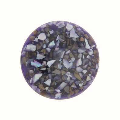 MY iMenso Dark Purple In Resin 33mm Crushed Shell Insignia 33-0861