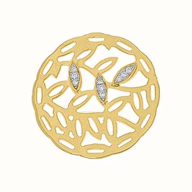 MY iMenso 925/Gold-Plated Insigne Fantasy Flower 33mm 33-0967