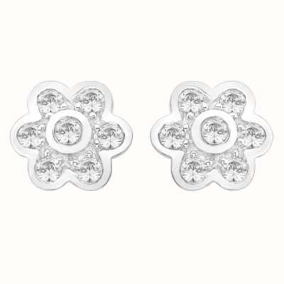 Perfection Swarovski Seven Stone Flower Rubover Stud Earrings (0.50ct) E2133-SK