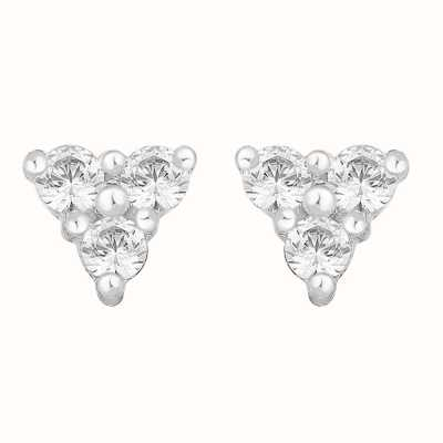 Perfection Crystals Triangular Trilogy Stud Earrings (0.25ct) E2353-SK
