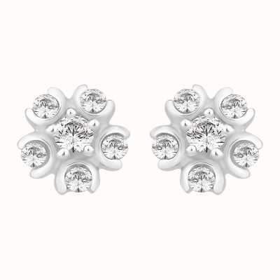 Perfection Swarovski Six Stone Cluster Stud Earrings (0.25ct) E2484-SK
