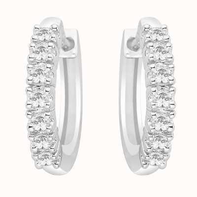 Perfection Swarovski Seven Stone Claw Set Huggy Earrings (0.50ct) E2698-SK