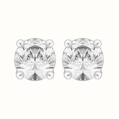 Perfection Swarovski Single Stone Four Claw Stud Earrings (1.00ct) E2769-SK