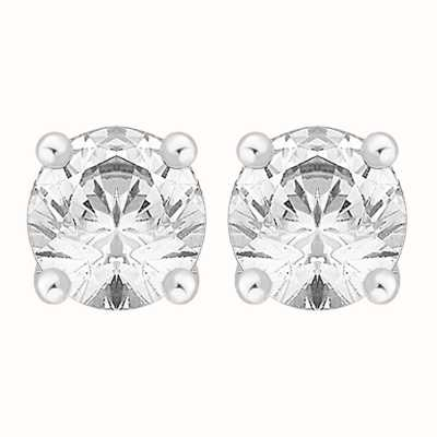 Perfection Crystals Single Stone Continental Earrings (2.00ct) E3296-SK