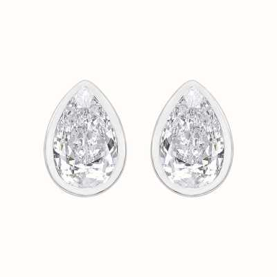Perfection Swarovski Single Stone Rubover Pear Stud Earrings (0.50ct) E3946-SK