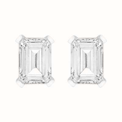 Perfection Crystals Single Stone Claw Set Emerald Stud Earrings (2.00ct) E4038-SK
