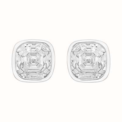 Perfection Swarovski Single Stone Rubover Imperial Mosaic Stud Earrings (2.00ct) E404 E4044-SK
