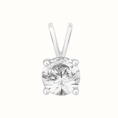 Perfection Swarovski Single Stone Four Claw Pendant (0.25ct) P0025-SK
