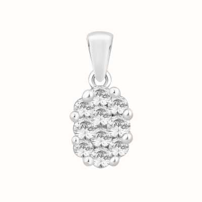 Perfection Swarovski Oval Shaped Cluster Pendant (0.40ct) P2490-SK