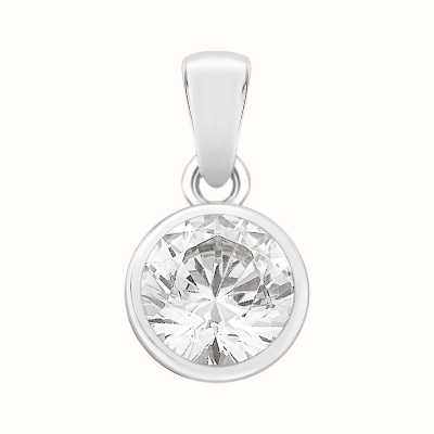 Perfection Swarovski Single Stone Rubover Set Pendant (1.00ct) P4554-SK
