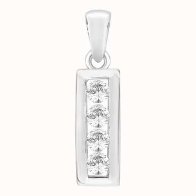 Perfection Swarovski Four Stone Channel Set Pendant (0.20ct) P4624-SK