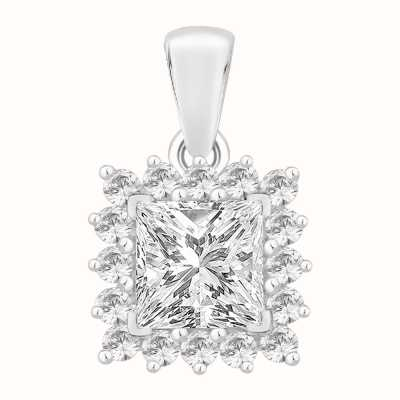 Perfection Swarovski Princess Cut Pendant With Surround (1.15ct) P5488-SK