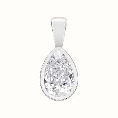 Perfection Crystals Single Stone Rubover Pear Cut Pendant (0.75ct) P5499-SK
