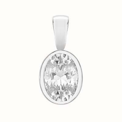 Perfection Swarovski Single Stone Rubover Oval Cut Pendant (0.75ct) P5507-SK