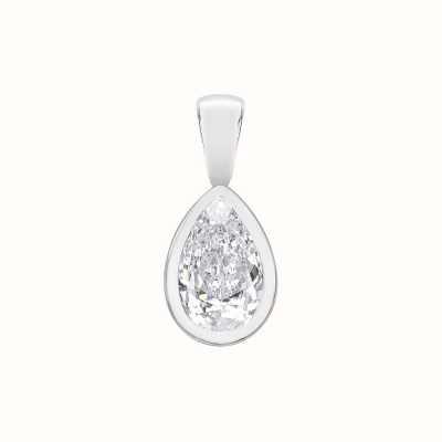 Perfection Swarovski Single Stone Rubover Pear Cut Pendant (0.25ct) P5509-SK