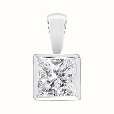 Perfection Swarovski Single Stone Rubover Princess Cut Pendant (1.00ct) P5531-SK