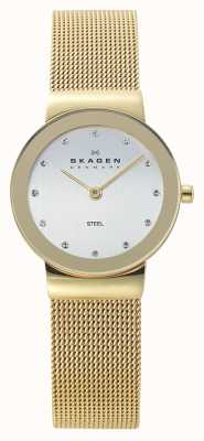 Skagen Womens Gold Tone Mesh Watch 358SGGD