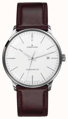 Junghans Mens Meister Chronometer Brown Leather Strap 027/4130.00