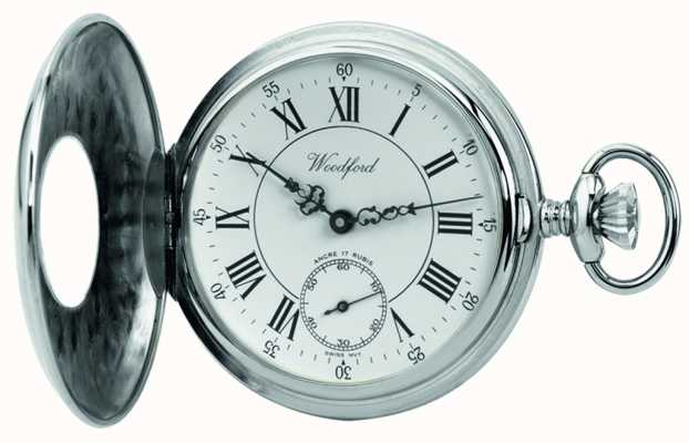 Woodford | Half Hunter | Chrome Finished | Pocket Watch | 1011