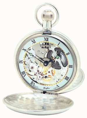 Woodford Silver Twin Lid Pocketwatch With Albert Chain 1065