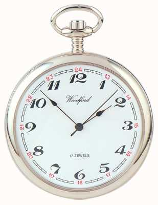 Woodford | Open Face | Chrome Plated | Pocket Watch | 1023