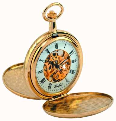 Woodford Full Hunter Dual Cover Pocket Watch 1038