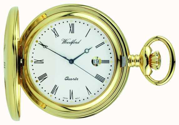 Woodford Half Hunter Quartz Pocket Watch 1211