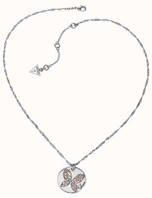 Guess Womens Butterfly Necklace UBN11301