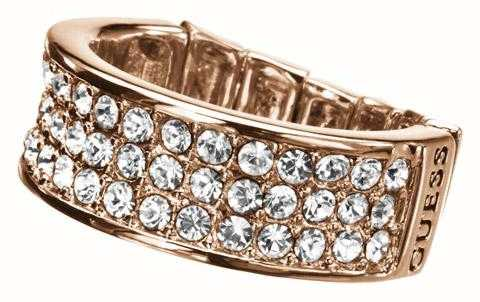 Guess Rose Gold Stretch Ring UBR11308-S