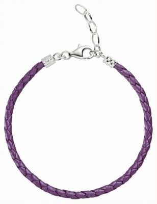 Chamilia One Size Purple Metallic Braided Leather Bracelet 1030-0113