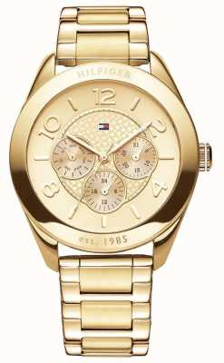 Tommy Hilfiger Womens' Gracie Gold-Plate Watch 1781214