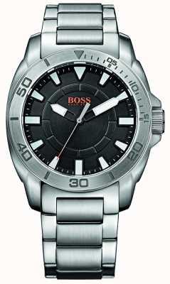 Hugo Boss Orange Mens Stainless Steel Black Dial Watch 1512946