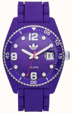 adidas Originals Unisex Brisbane Purple Branded Rubber Strap Watch ADH6176