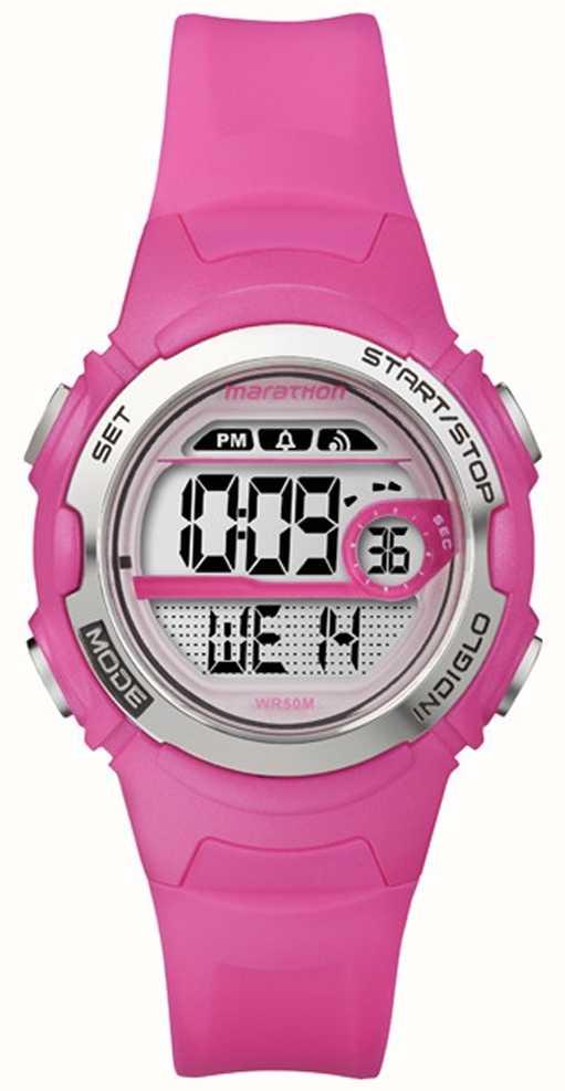 Timex Indiglo Marathon Digital Mid Size Alarm T5k771 First Class