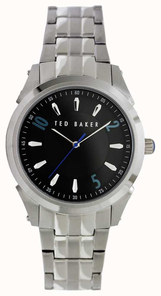 198e5994af75 Ted Baker Mens Stainless Steel Black Face Watch TE3031 - First Class ...