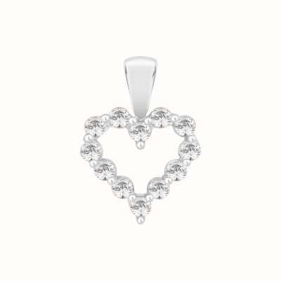 Perfection Swarovski Claw Set Heart Pendant (0.25ct) P3703-SK