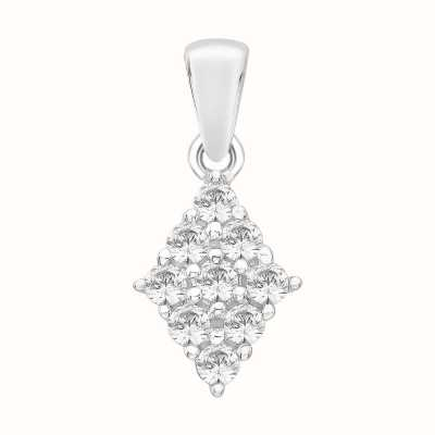 Perfection Swarovski Diamond Shaped Cluster Pendant (1.00ct) P4988-SK