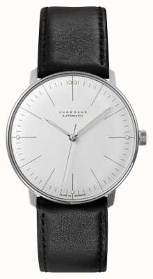 Junghans Mens Max Bill Automatic Black Leather Strap 027/3501.00