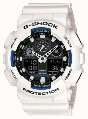 Casio Mens G Shock White Resin Watch GA-100B-7AER