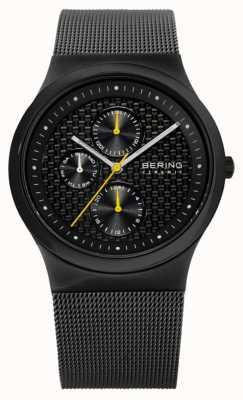 Bering Mens Ceramic Black Carbon Fibre Effect Dial Watch 32139-222