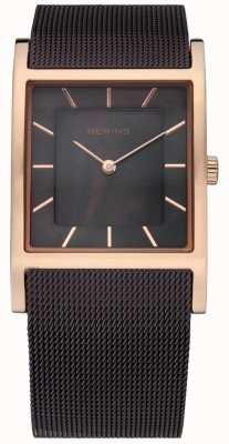 Bering Womens, Rose Gold Brown Mesh Strap Pearl dial 10426-265-S