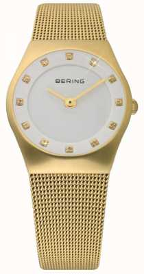 Bering Time Ladies Gold Mesh Watch 11927-334