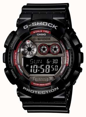 Casio Mens Black Red Detail Watch GD-120TS-1ER