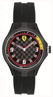 Scuderia Ferrari Mens Pit Crew Black Rubber 50m 0820001