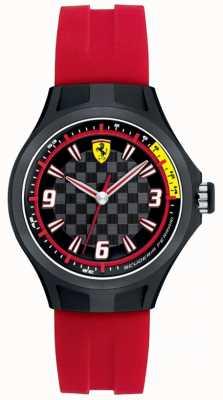 Scuderia Ferrari Womens Pit Crew Red Rubber Strap 0820002
