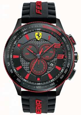 Scuderia Ferrari Mens XX Black IP Steel Red Accent Chronograph 0830138